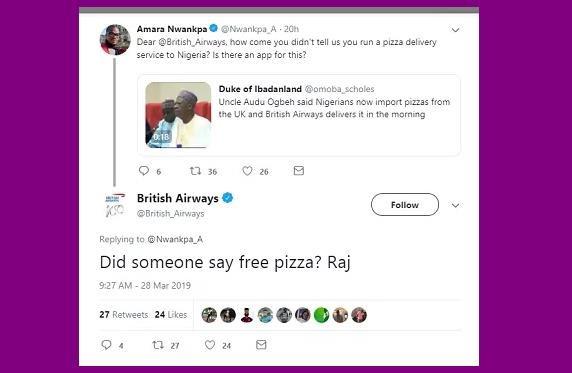 Dan nha giau Nigeria dat mua pizza o Anh, cho ve bang may bay hinh anh 2